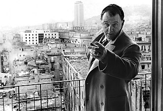 Hands over the City - Rod Steiger in a stillframe of the movie