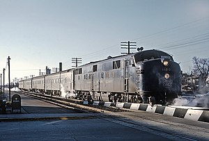 Chicago and Eastern Illinois Railroad - The Danville - Chicago Flyer at Steger, Illinois on November 26, 1965