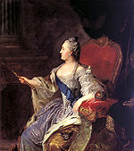 Portrait de Catherine II, par Fyodor Rokotov. 1763.