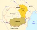 Romania - Principats de Valaquia e de Moldàvia en 1815.png