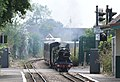 """Romney, Hythe & Dymchurch Railway No.1 """"Green Goddess"""" storms through St.Marys station non-stop with the 2.15pm departure from Dungeness.jpg"""