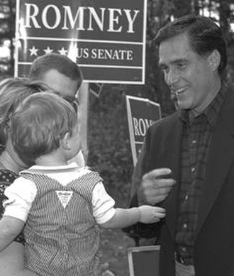 Mitt Romney - Campaigning for U.S. Senate in Holyoke, Massachusetts, 1994