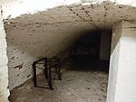 Room used as air raid shelter in the basement of the FPCL, 8-9 Soho Square.jpg