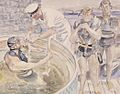 Rosia Bay Divers in 1944 War artist Pitchforth.jpg