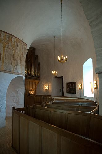 Nordic round churches - Interior of the round church of Østerlars