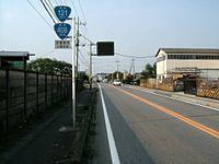 Route 121 and 408 (Japan) in Kamikomoriya-machi,Utsunomiya city,Tochigi.JPG