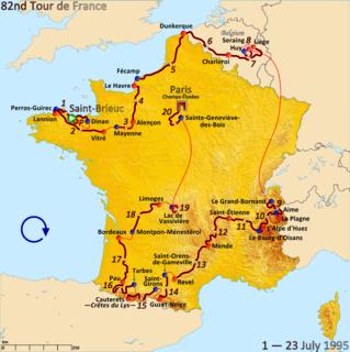 1995 Tour de France, Prologue to Stage 10 Wikimedia list article