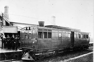 Steam railcar - Rowan steam railmotor.