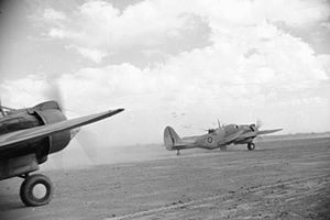 Battle of the Mareth Line - RAF Martin Baltimores taking off from Ben Gardane to bomb the Mareth Line