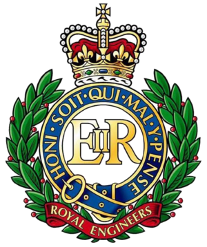 Bermuda Volunteer Engineers - Cap Badge of the Corps of Royal Engineers (this is the post-1953 version, with the Queen's crown).