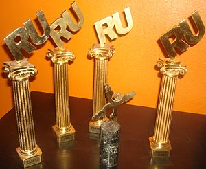 "Russian Wikipedia - Awards of RuWiki. ""Golden site"" prize (2007) and four Runet Prizes (2006, 2007, 2009, 2010)"