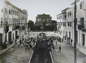 Braga - A view of Rua Júlio Lima at the beginning of the 20th century