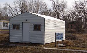 Monowi, Nebraska - Rudy's Library