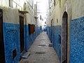Ruelle bleue, Kasbah des Oudayas (Rabat, Maroc) (15561666480).jpg