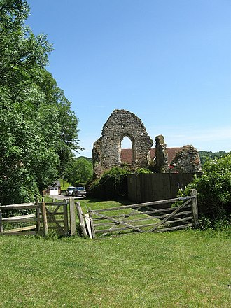Crowhurst, East Sussex - The ruins of the manor house at Crowhurst