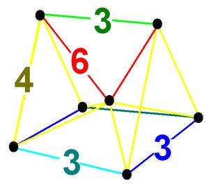 Runcinated 5-simplexes - Image: Runcitruncated 5 simplex verf