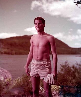Russ Tamblyn - Tamblyn on the set of Peyton Place (1957)