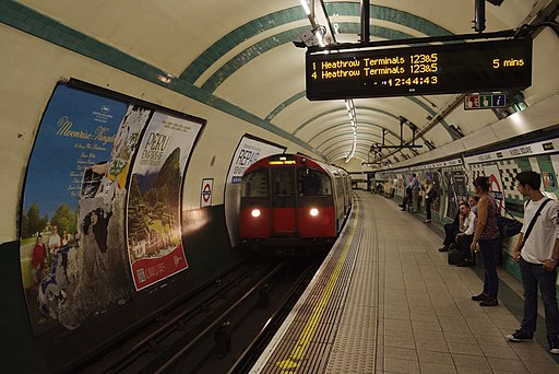 Russell Square tube station MMB 04 1973-Stock