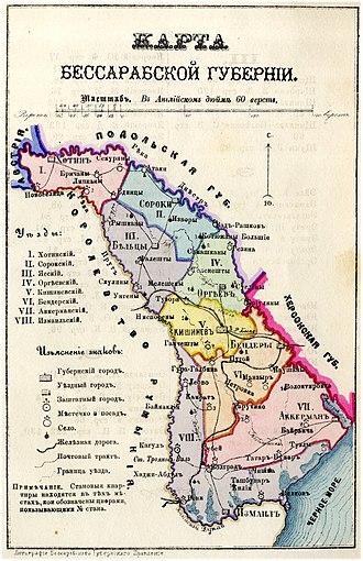 Bessarabia Governorate - Bessarabia Governorate, 1883