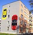 Sárga és piros autó (Karácsonyi László), Kazincbarcika.jpg