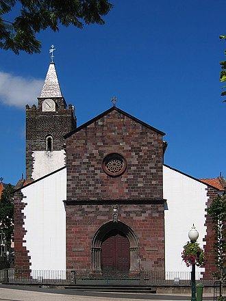 Madeira - Cathedral of Funchal with its tower of 15th-century Gothic style in the background