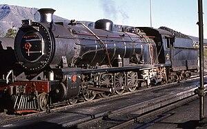 South African Class 15A 4-8-2 - Class 15AR no. 1788, Graaff Reinet, 4 April 1978