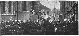 Kingdom of Yugoslavia - Celebrations of South Slavs in Zagreb during the formation of the National Council of the State of Slovenes, Croats and Serbs, October 1918