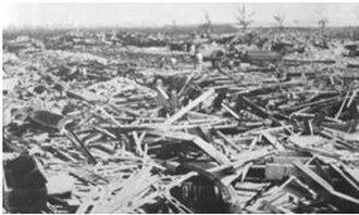 1931 British Honduras hurricane - The remains of St. John's College