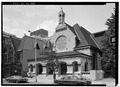 SOUTH (FRONT) ELEVATION - First Unitarian Church, 2121 Chestnut Street, Philadelphia, Philadelphia County, PA HABS PA,51-PHILA,296-1.tif