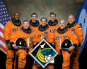 SOLAR (ISS) - The STS-122 crew included two ESA astronauts, Léopold Eyharts (fr) and Hans Schlegel (de)