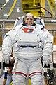 STS-123 training Behnken EMU.jpg