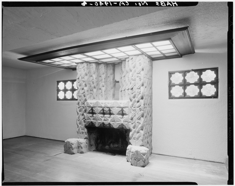 File Study Fireplace Sowden House 5121 Franklin Avenue