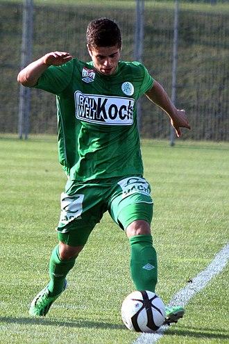 Dukagjin Karanezi - Image: SV Mattersburg vs FK Dukla Banská Bystrica 2013 06 21 (78)