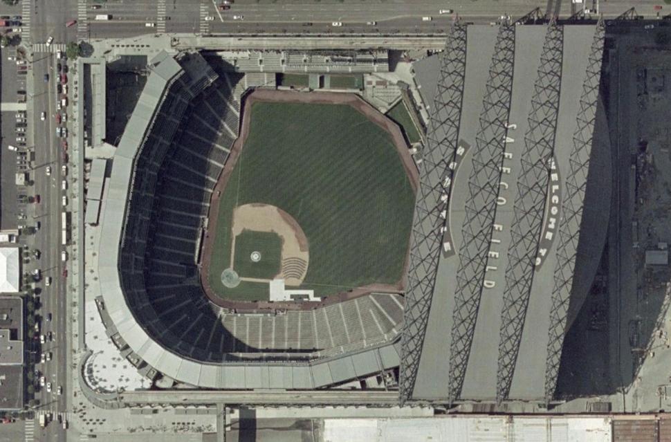 Safeco Field satellite view