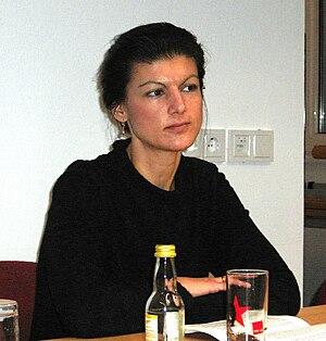 Member of European Parliament Sahra Wagenknech...