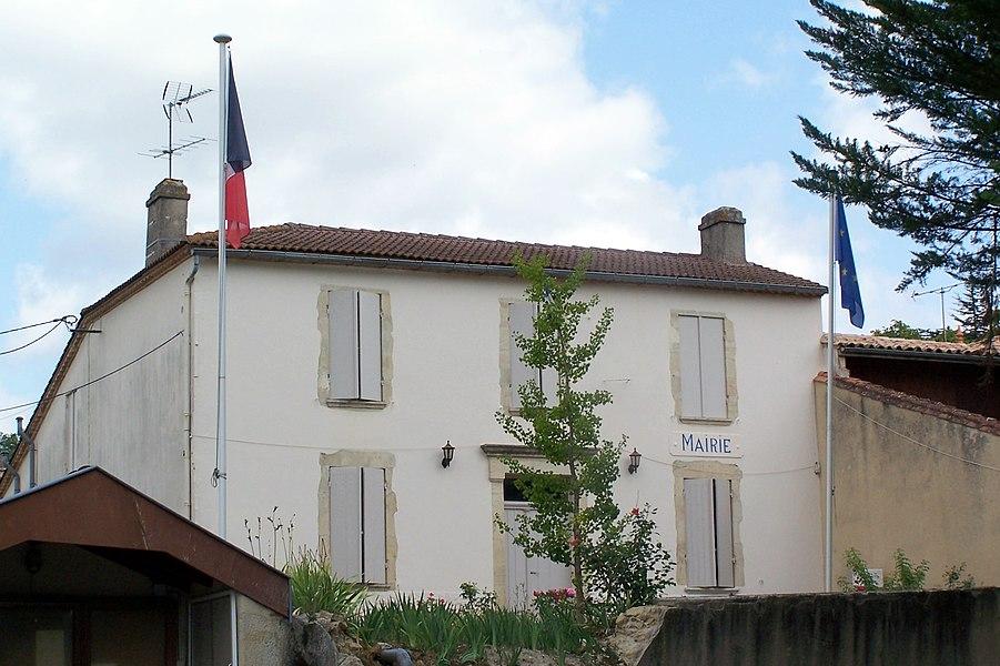 Town hall of Saint-Martin-de-Lerm (Gironde, France)