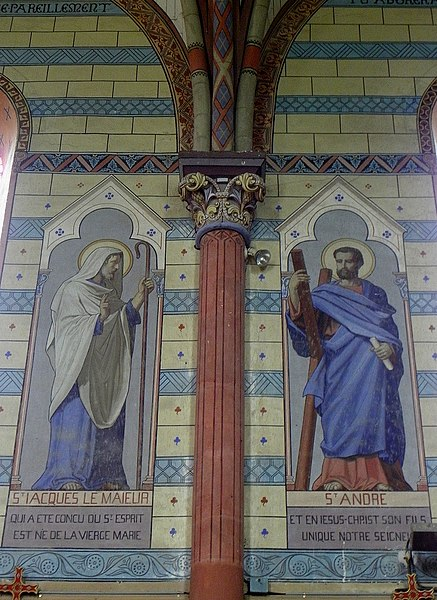 Église Saint-Martin de Saint-Martin-du-Limet (53). Peintures murales.