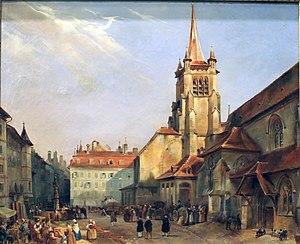Lausanne - Saint-François square, c. 1840