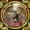 Saint John the Baptist Catholic Church (Dry Ridge, Ohio) - stained glass, Eagle of St. John.jpg