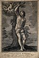 Saint Sebastian. Engraving by G. Cecchi after G.F. Barbieri, Wellcome V0033062.jpg