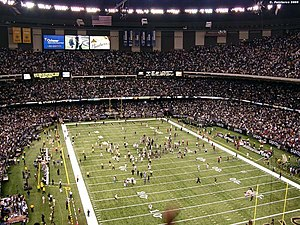 2006 New Orleans Saints season - The Louisiana Superdome during the Saints' win over the Philadelphia Eagles, October 15, 2006