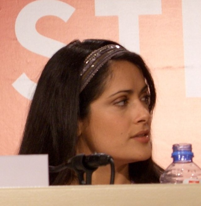 From commons.wikimedia.org: Salma Hayek Cannes 2005 1 {MID-209429}