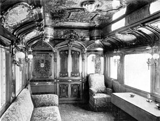 Royal train - Saloon No. 1 of Kaiser Wilhelm II., 1890s