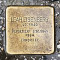 Salzburg - Stolperstein Eisenberg Leah - Lessingstraße 6 = Rainerstraße 17.jpg