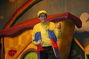 Sam Moran - Sam Moran as Yellow Wiggle