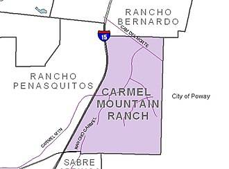 Carmel Mountain Ranch, San Diego - Image: San Diego Map Carmel Mtn