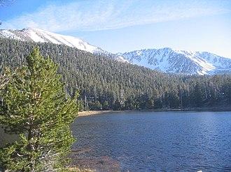 San Gorgonio Wilderness - San Gorgonio range from the Dry Lake campground
