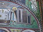 San vitale, ravenna, int., presbiterio, mosaici di dx 03 offerta di abele e melchidesech 04.JPG