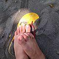 Sand, feet, and sandal.jpg