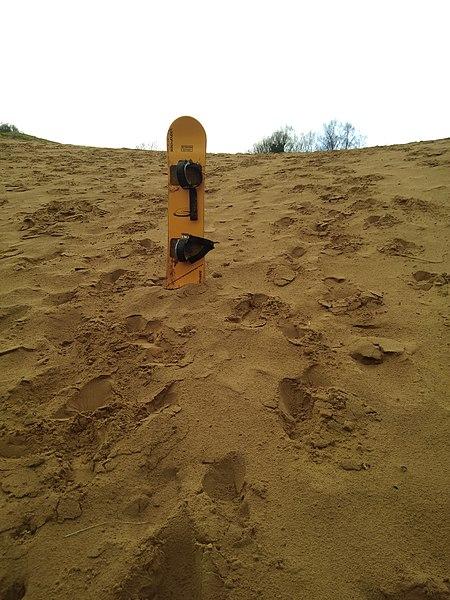 Sandboard at Merthyr Mawr, Wales